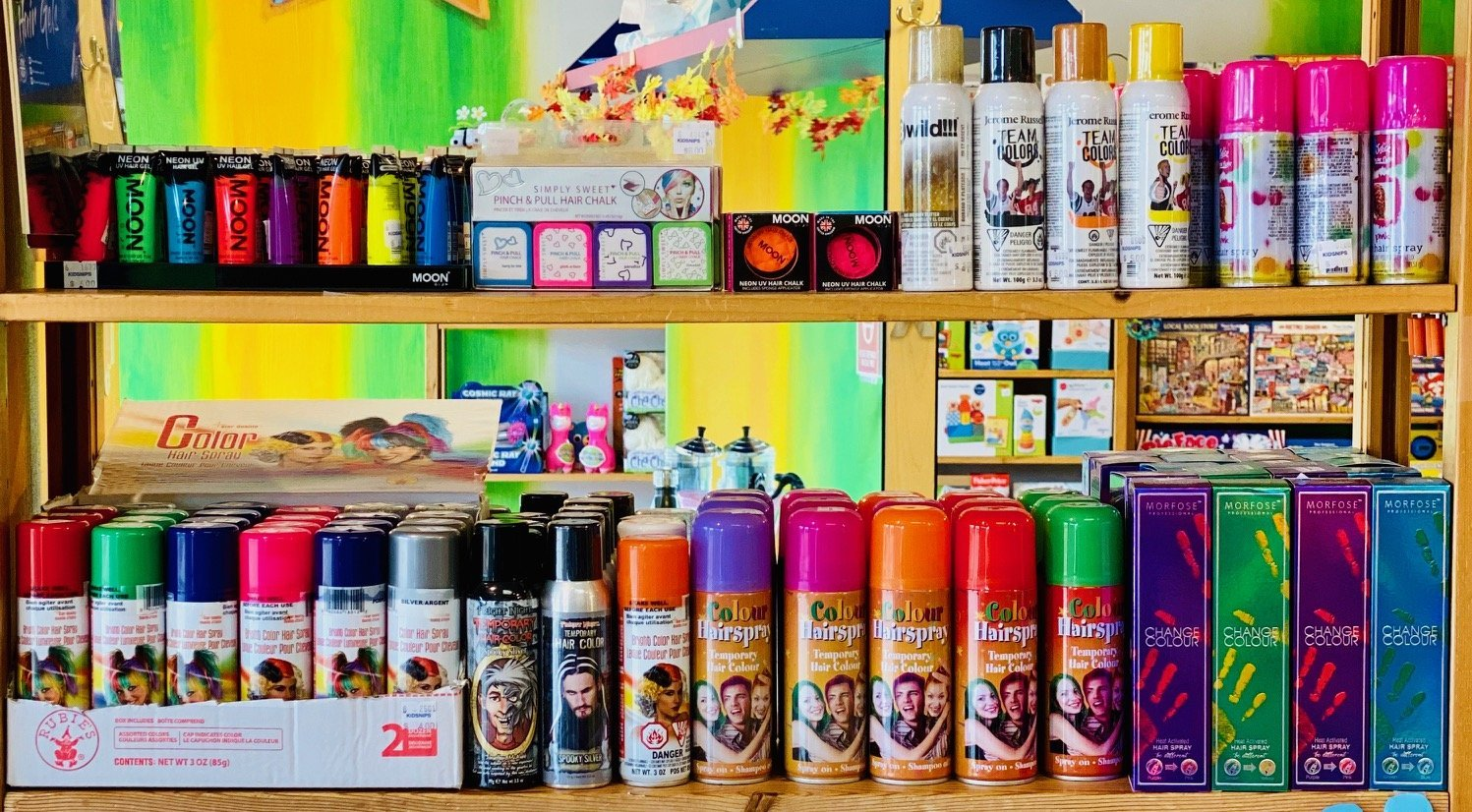 Fun hair products available at KidSnips