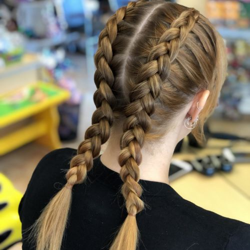 Girls Double Dutch Braids (our most popular style!)